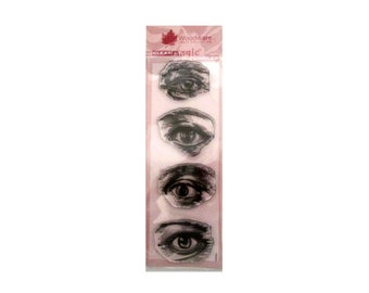 Eyes. Free Shipping, clear stamps for Card making, Scrapbooking, Journaling, Collages.
