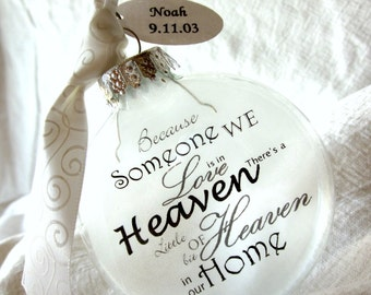 Because Someone We Love is in Heaven There's a Little Bit Of Heaven in Our Home Angel Memorial Ornament Keepsake - Large Over 3 Inches
