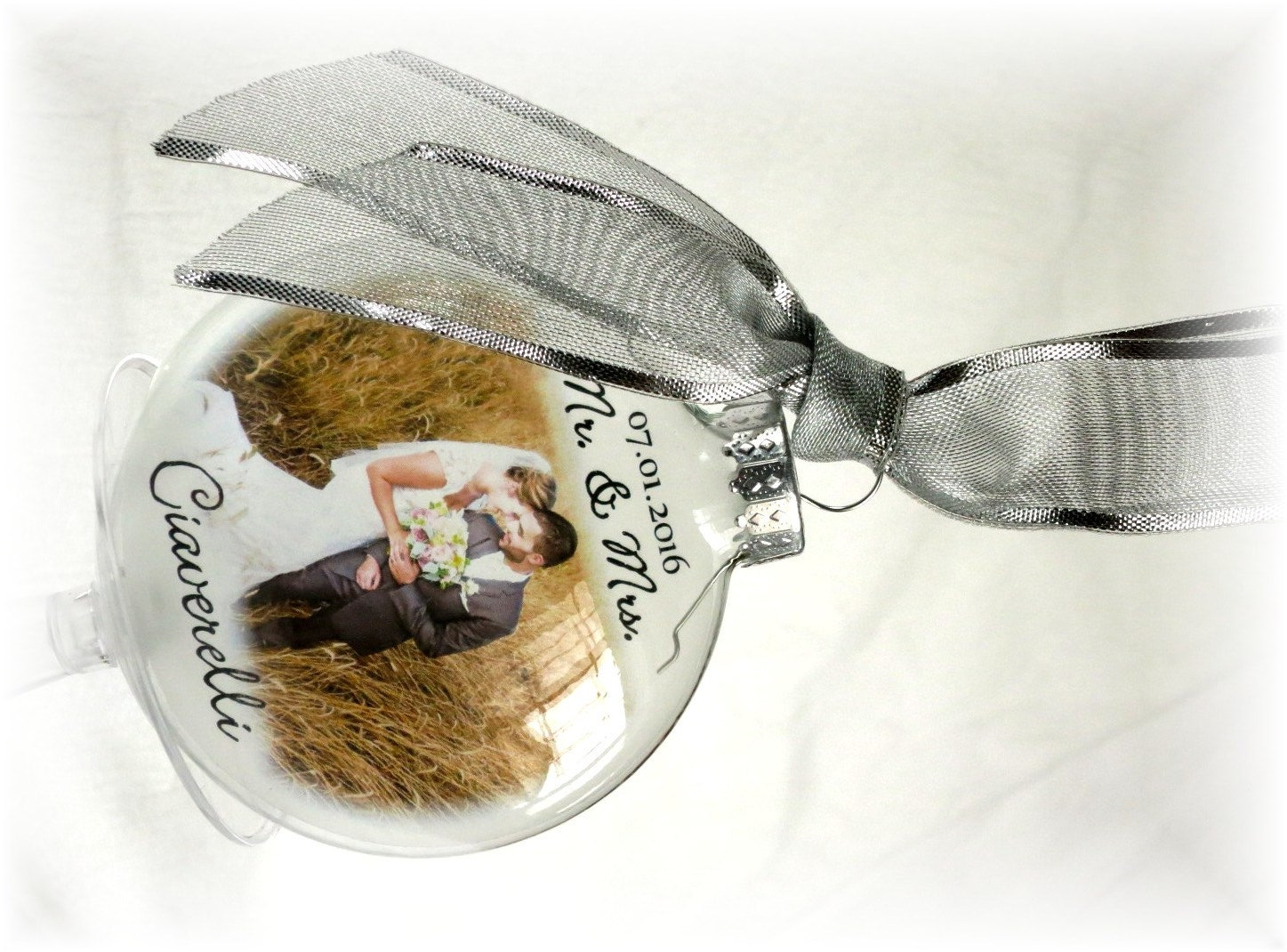 First Christmas Married Ornament Mr Amp Mrs Custom Holiday Glass Etsy