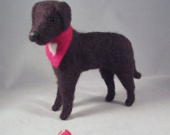 Needle Felted Lab, Dog Art, Needle Felt Dog, Felt Dog, Dog Gift, Chocolate Lab Gift, Needle Felted Animal, Felt Animals, Felted Animals, Lab