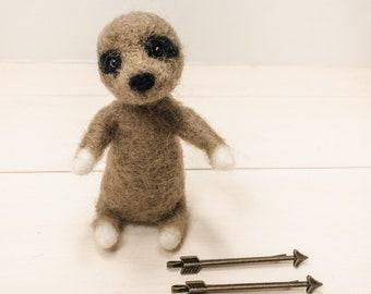 Needle Felted Animal, Felted Sloth, Needle Felted Sloth, Rainforest Animals, Felted Animals, Handmade Sloth, Forest Animals, Felt Animals