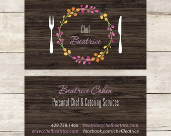 Chef business card etsy personal chef business card nutritionist business card nutrition advisor business card catering business card farmer market business card colourmoves
