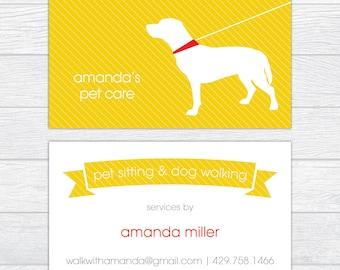 dachshund dog walker dog sitting business cards set of 50