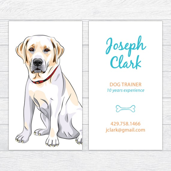 Dog trainer business cards dog walker calling card dog etsy colourmoves