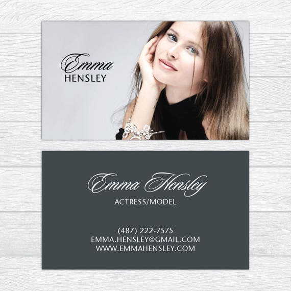 Modeling Business Cards Fashion Business Cards Professional Etsy