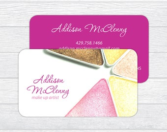Makeup artist business cards etsy professional makeup artist business cards colourmoves