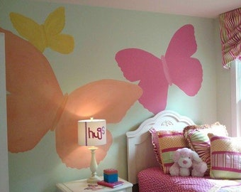 Large Painted Butterflies