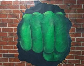 Handpainted Hulk Fist