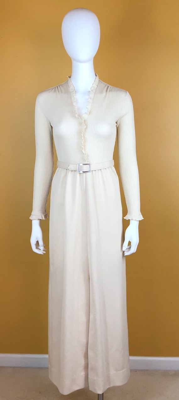 Ivory Vintage Evening Gown
