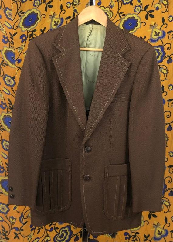 Vintage Johnny Carson Brown Men's Blazer