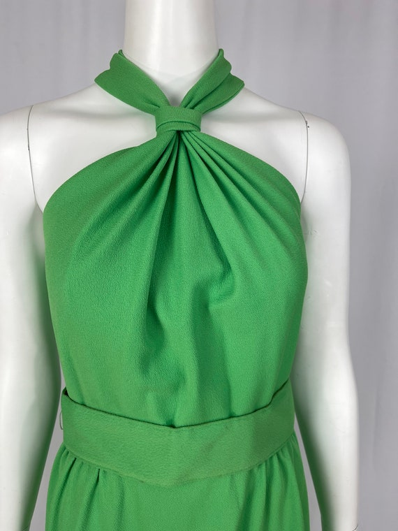 Vintage 1960s Green Halter Dress