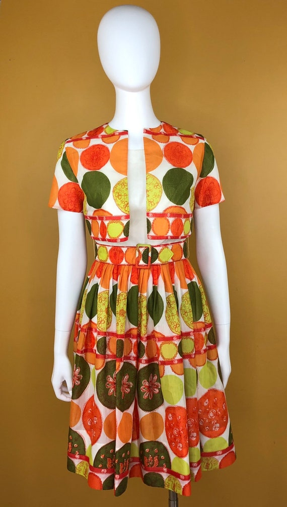 Vintage 1950s Ann Marsh 2 Piece Dress And Jacket With Belt Etsy