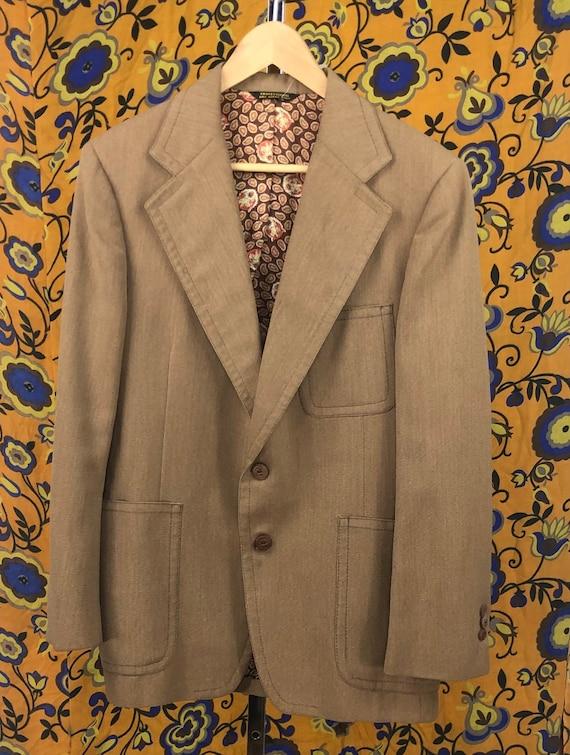 Vintage Men's Tom Weiskopf Brown Blazer