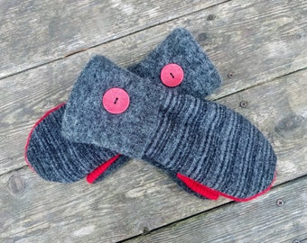 d6845b2a0 SALE Sweater Mittens - Wool Mittens Made from Recycled Sweaters - Felted  Wool - Upcycled Sweater - Gloves - Gift for Her - Felted Mittens