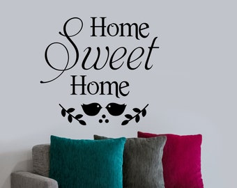 Home Sweet Home Decal, Vinyl Wall Lettering, Vinyl Wall Decals, Vinyl Letters, Vinyl Lettering, Wall Quotes, Family Decal, Home Quote