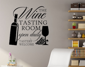 Wine Wall Decal Etsy