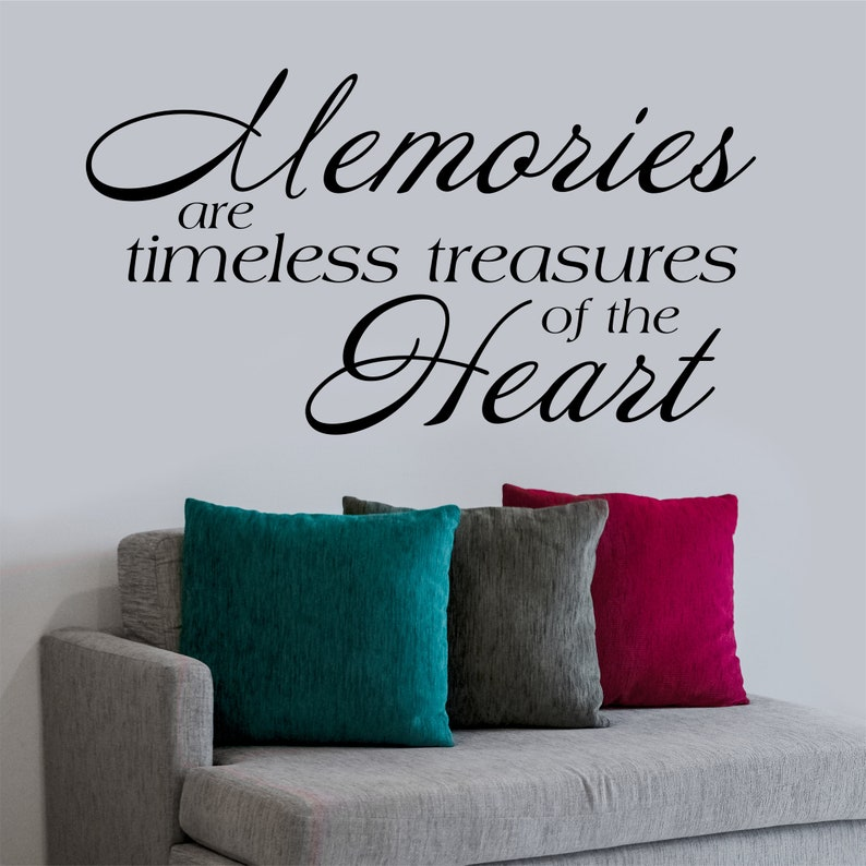 Memories are Timeless Treasures Wall Art Decal Lettering Words Quote Home Decor
