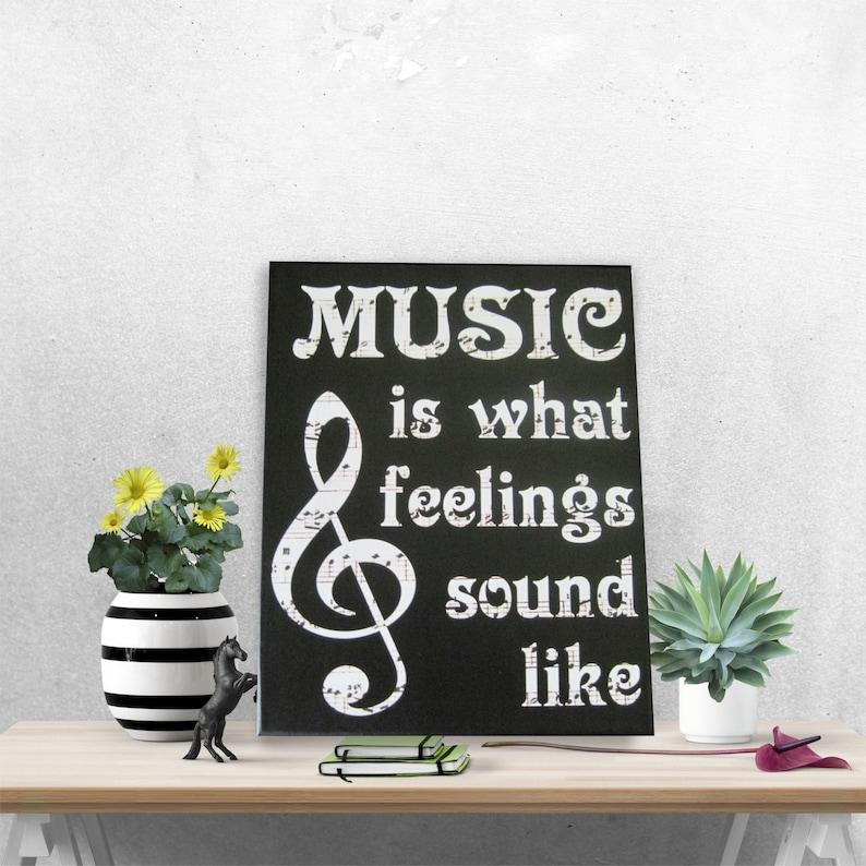 music is feelings sound vinyl art print canvas wall art | etsy