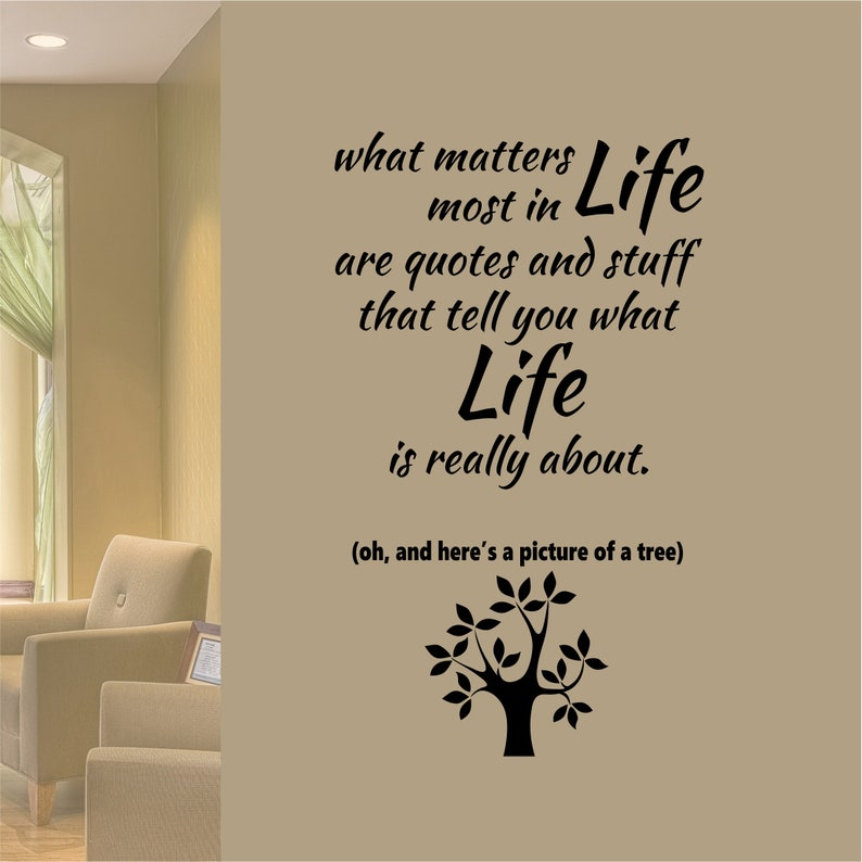 Matters Most In Life Are Quotes Vinyl Wall Lettering Vinyl Etsy