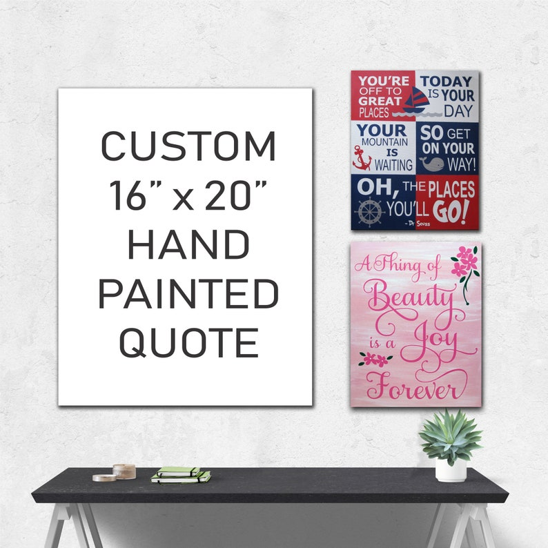 16 X 20 Custom Hand Painted Canvas Quote Hand Painted Typography Hand Painted Quote Canvas Wall Art Canvas Wall Quotes Painted Signs