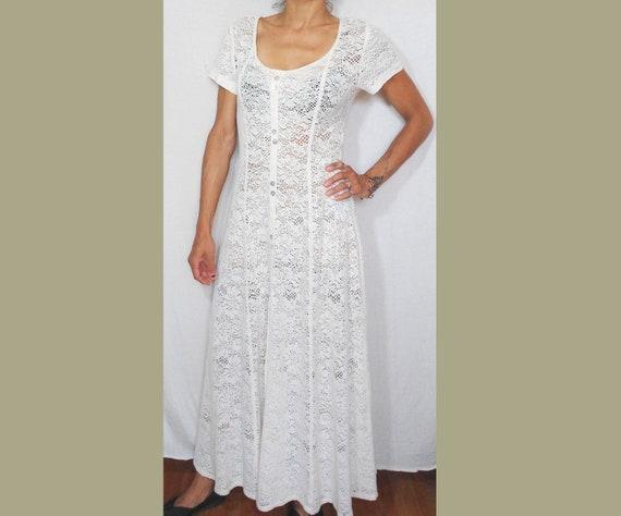 M 1990s Off-white Maxi Dress