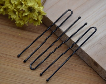 gold and dark silver colors option 50pcs 102x30mm metal U shape hair fork pin hairpin hair stick pick band headband clip accessory ZH50