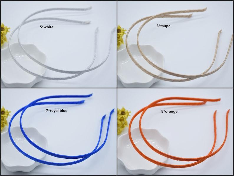 10Pieces 5mm satin wrapped headband,satin covered headband,fully lined up with a satin ribbon headband
