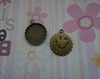 10pcs antique bronze bottle cap findings 25x29x3mm