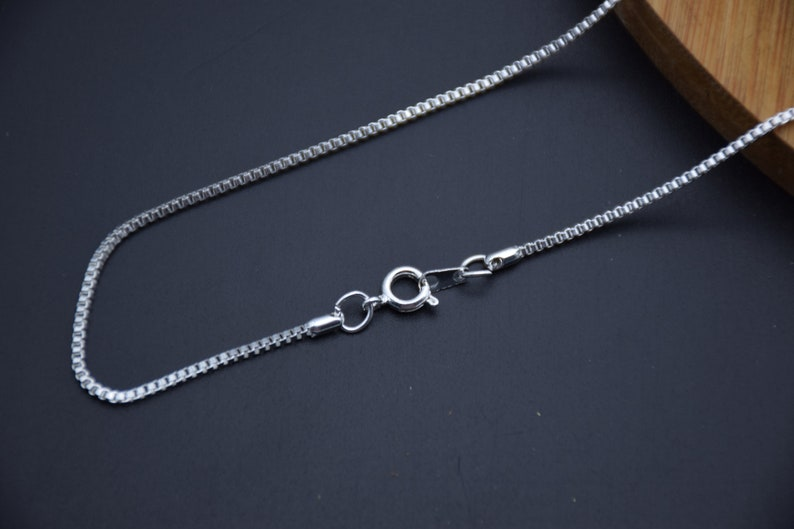 5 box chain necklace with clasp,1.5mm metal solid box link chain,dainty layering chain,delicate chain,jewelry chain,finished chain,20 inches
