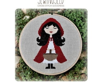 Little Red Riding Hood Cross Stitch Pattern Instant Download