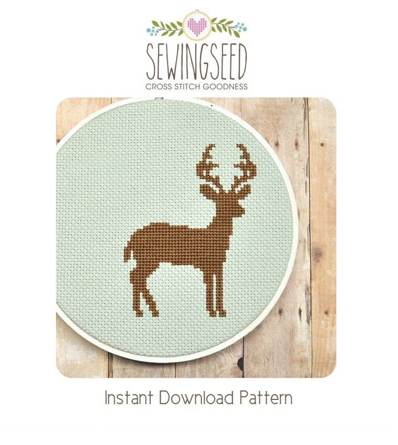 Cross Stitch Pattern Deer Cross Stitch Pattern Instant image 0
