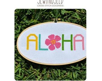 Aloha Cross Stitch Pattern Instant Download