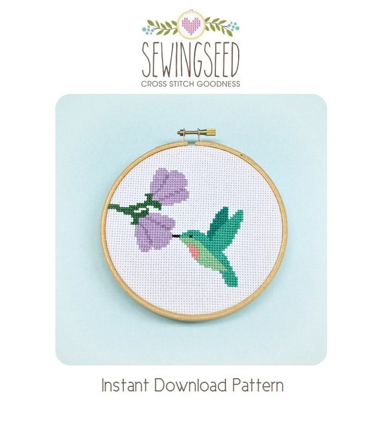 Hummingbird Cross Stitch Pattern Instant Download image 0
