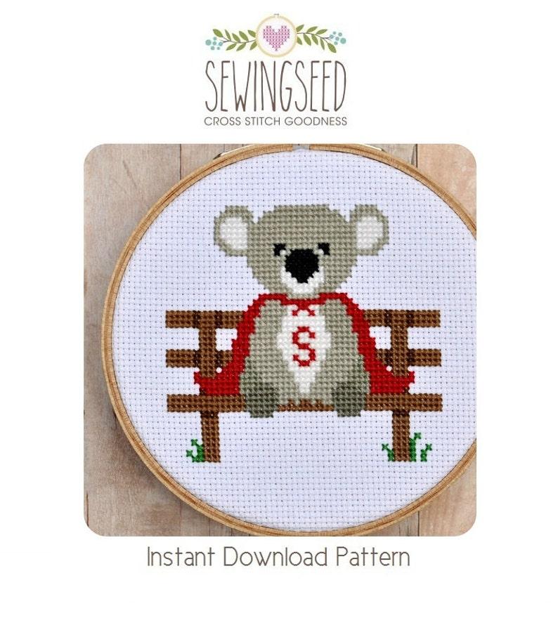 Super Koala Cross Stitch Pattern Instant Download image 0