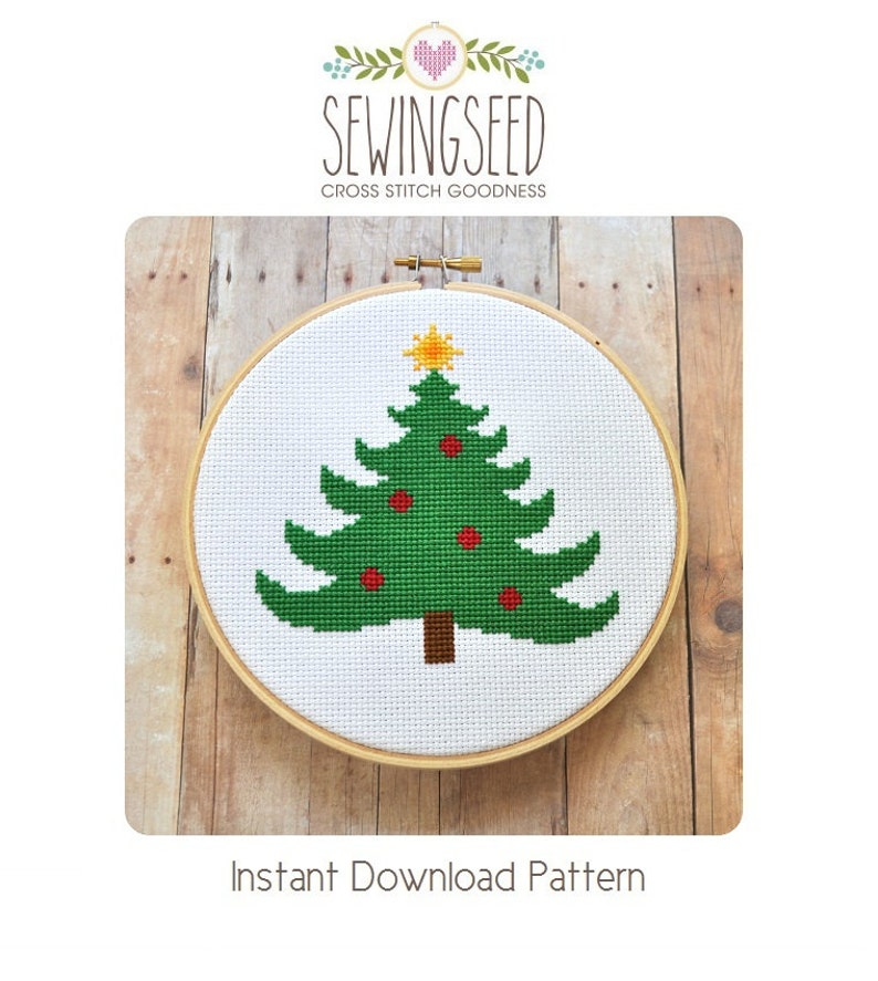 Christmas Tree Cross Stitch Pattern Instant Download image 0