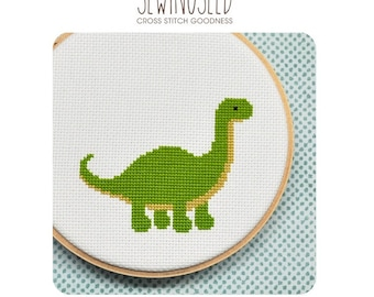Dinosaur Cross Stitch Pattern - Instant Download