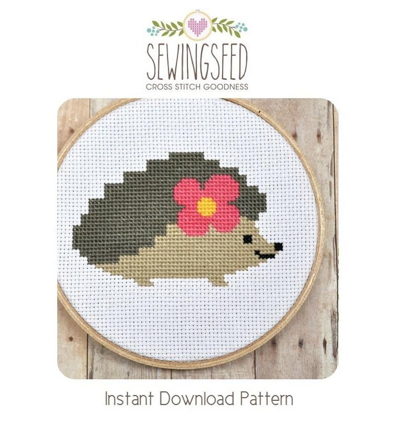 Hedgehog Cross Stitch Pattern image 0