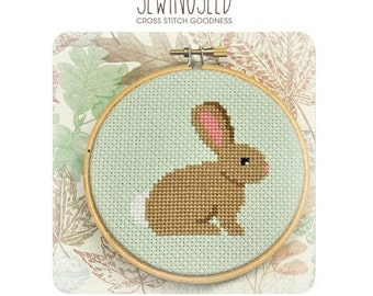 Bunny Cross Stitch Pattern Instant Download