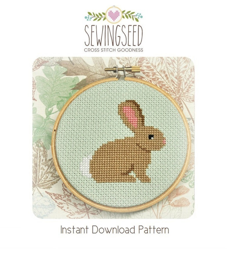 Bunny Cross Stitch Pattern Instant Download image 0