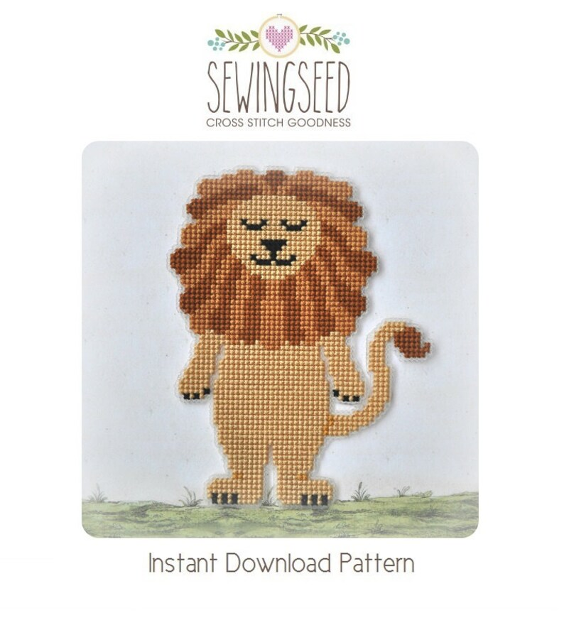 Lion cross stitch pattern Wizard of Oz Instant Download image 0