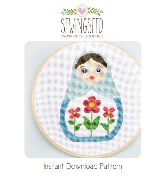 Cross Stitch Pattern Russian Doll Matryoshka Nesting