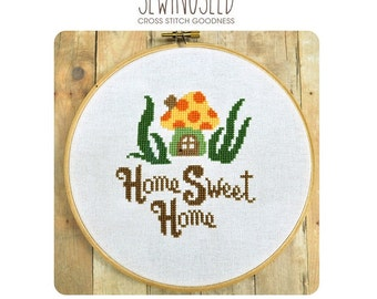 Home Sweet Home Cross Stitch Pattern Instant Download