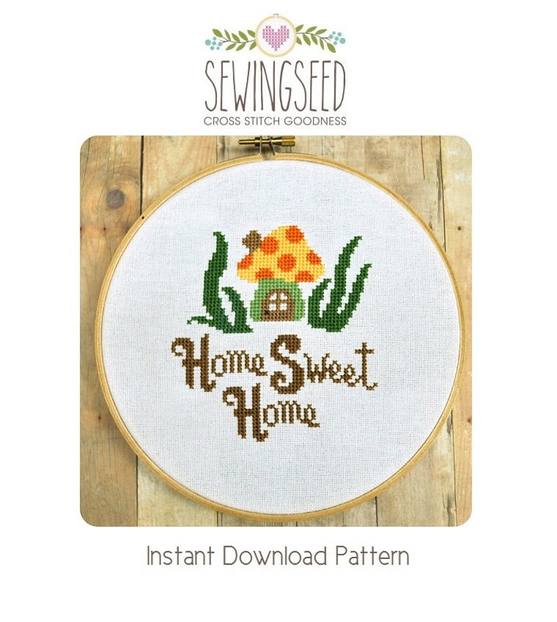 Home Sweet Home Cross Stitch Pattern Instant Download image 0
