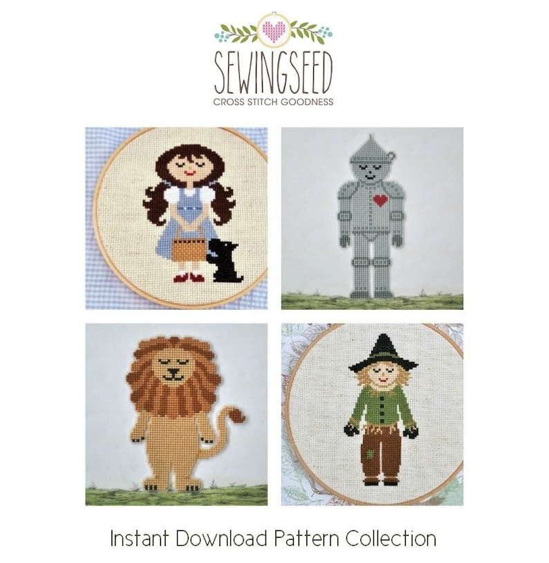 The Wizard of Oz Cross Stitch Pattern Collection Dorothy image 0