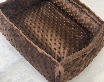 Luxe Cuddle Minky Hide  Cat Dog  PadBed 15 x 22