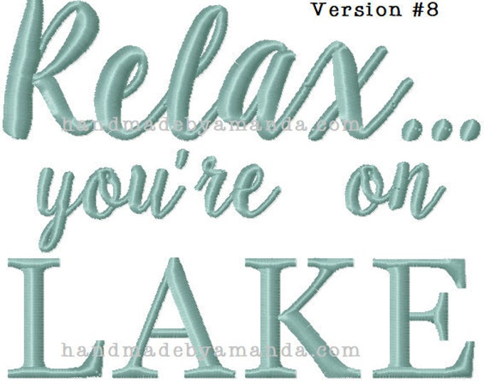 Relax you're at the LAKE hand towel - LAKE house themed towel - Kitchen towel for the lake House Choose your DESIGN and towel color