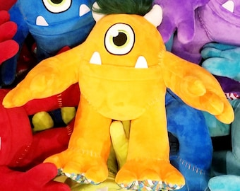 TOOTH OGRE - MONSTER tooth fairy pillow for boys or girls - monster pillow - tooth fairy pillow orange