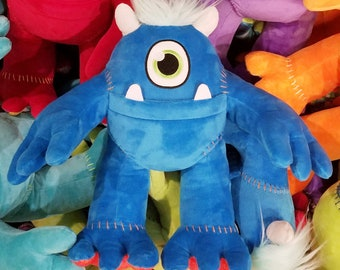 Plush Stuffed Animal MONSTER - MONSTER plushy for boys or girls - monster pillow - plushies pillow blue