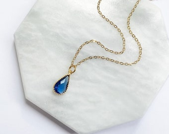 Gifts for Her Birthstone Pendant Sterling Silver Blue Sapphire Pendant DIY Jewelry Making Natural Gemstone Pendants