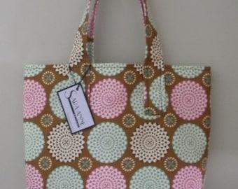 Circle Print Tote Bag